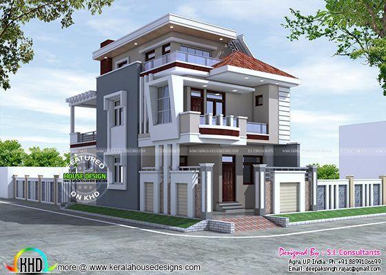 25x50 Beautiful Modern Home Kerala House Design Duplex House Design House Design Pictures