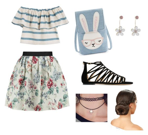 """A Day At The Park"" by xxsabrinacarpenterxx ❤ liked on Polyvore featuring Raoul, Jimmy Choo, Mara Hoffman and Oasis"