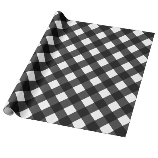 Black And White Gingham Wrapping Paper Zazzle Com Black White Custom Wrapping Paper Gingham