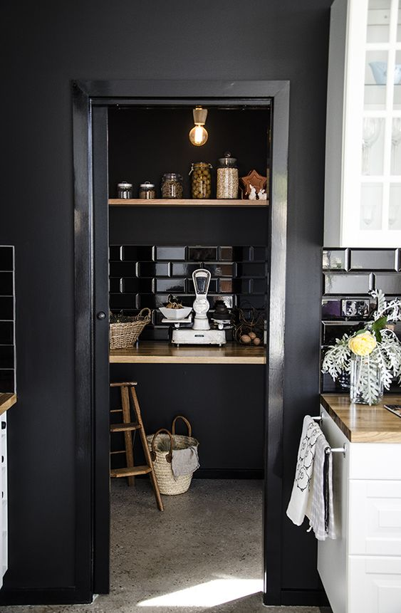 """myidealhome: """"this black pantry is so cool! / thecountryphiles """""""