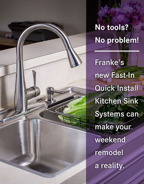 Franke Fast In Sink : No tools? No problem! Frankes new Fast-In Quick Install Kitchen Sink ...