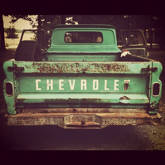Old Chevy pickups.