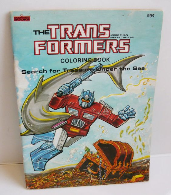 transformers coloring book 1984 vintage activity book by wordlove 1980s pinterest coloring books books and vintage coloring