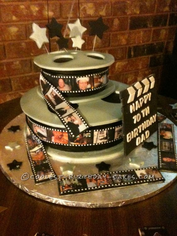 Cake With Photo Reel : Coolest Movie Reel Cake for My Father Birthday cakes ...
