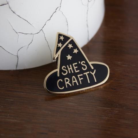 She's Crafty Enamel Lapel Pin