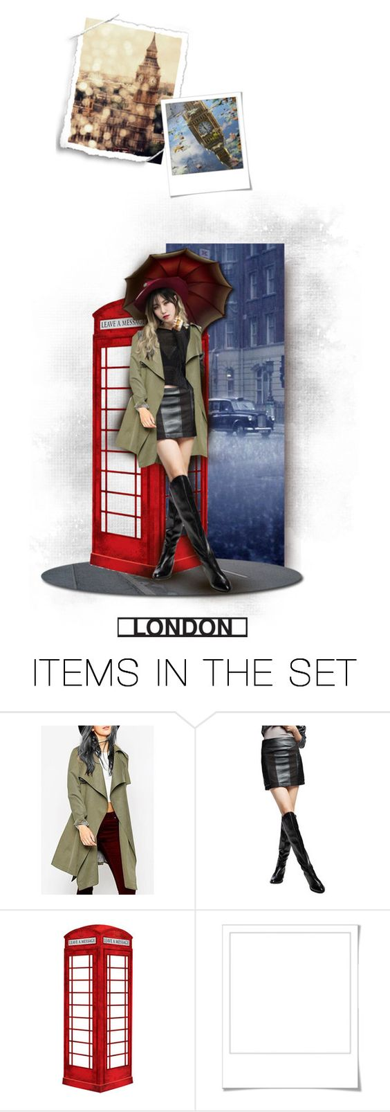 """Yezi  in London"" by chomiczynka ❤ liked on Polyvore featuring art and chomiczynkadolls"