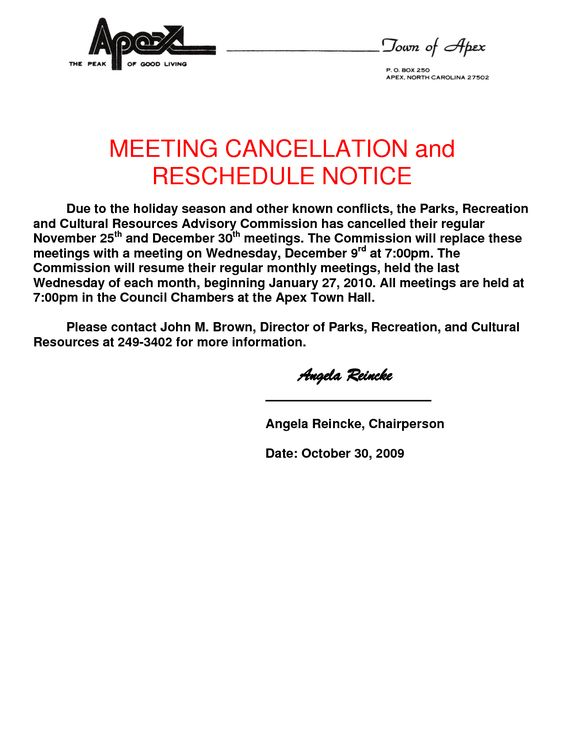 Cancellation Notice Template - Invitation Templates - cancellation - meeting memo