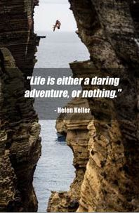 Life is either a daring adventure... or nothing #inspiring #quotes