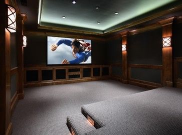 Home theater design ideas pictures remodel and decor - Home theater stadium seating design ...