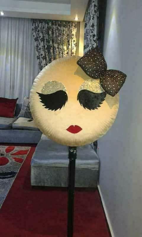 فكرة رائعة لعمل غطاء لمروحة على شكل عيون بالبرموش او ايموجي Novelty Lamp Decor Home Decor