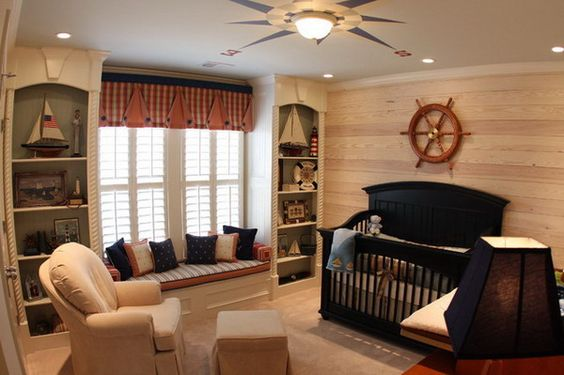 Traditional Baby Boy Nursery Room within Pirate Ship Theme