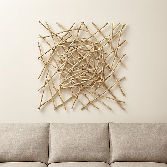Crate And Barrel Outdoor Wall Decor : Wall decor for living room sticks wood art crate