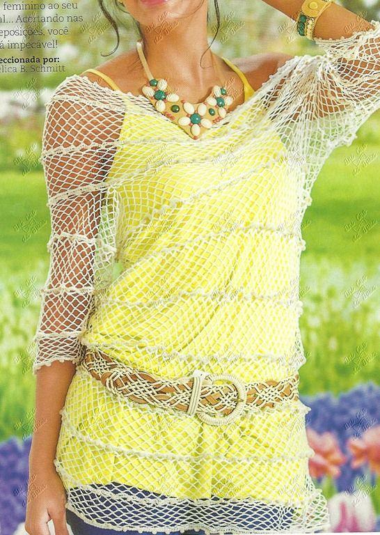 Delicadezas en crochet Gabriela: Hermosas blusas de temporada