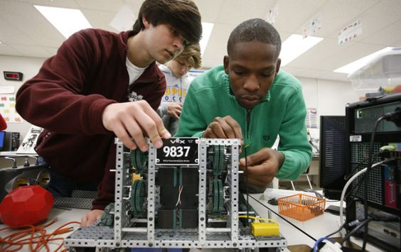 Daily Journal: Amanda Gamble Wood (UM alumna, physics major): The Tupelo High School engineering teacher's students won the 2014 VEX Robotics State Competition and will compete in the world championships in Anaheim, California. | University of Mississippi College of Liberal Arts