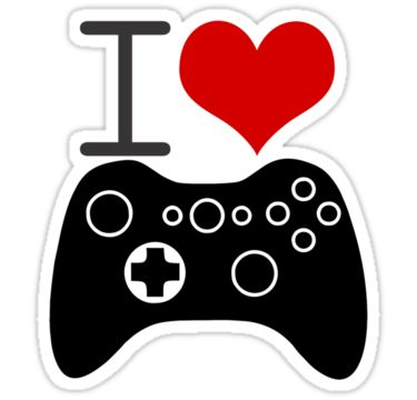 i love video games stickers and other goodies at http://www.redbubble.com/people/vshipton/works/14461007-i-love-video-games?p=sticker