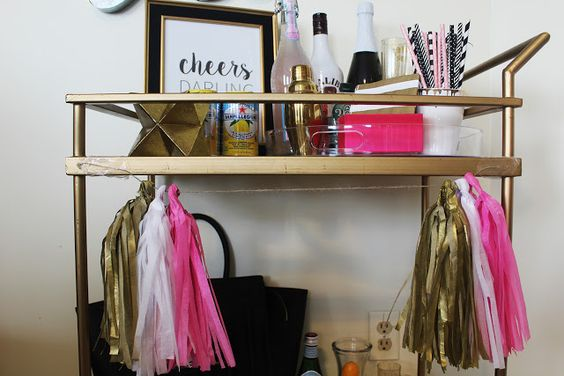 Bar Cart Reveal via of life and style