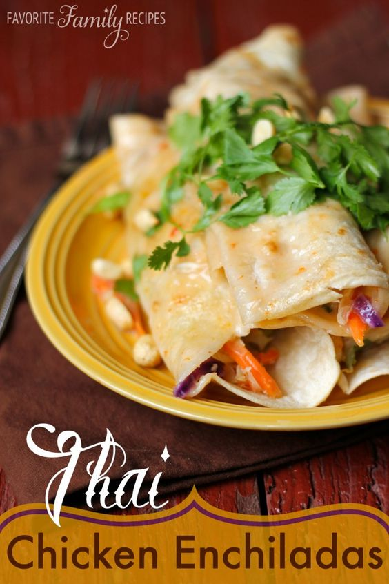 Thai chicken, Chicken enchiladas and Food fresh on Pinterest