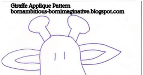 Giraffe Applique Pattern