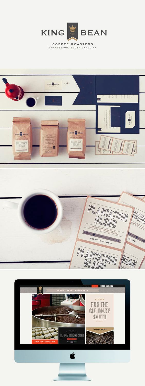Identity King Bean Coffee Branding Design Packaging Graphic Design Branding Identity Design Inspiration