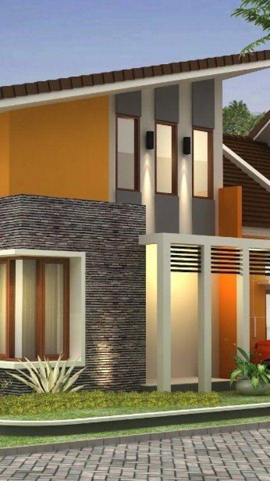 Desain Rumah Atap Miring : desain, rumah, miring, Desain, Rumah, Minimalis, Miring, Minimalis,