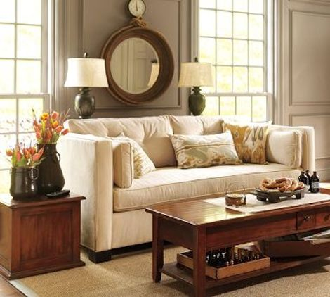 Couch sofas and console tables on pinterest for Table behind couch