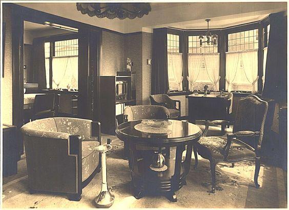 Ca 1935 interieur philips woning kijken op de boschdijk eindhoven huis jaren 30 pinterest - Deco moderne woning ...
