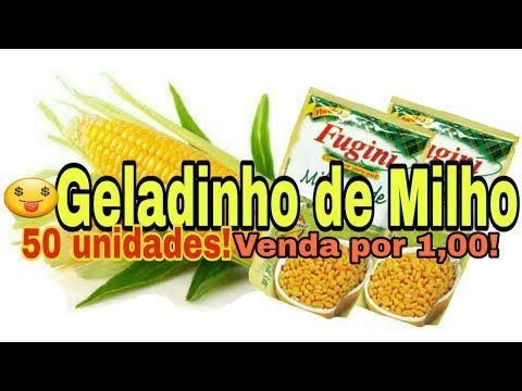 Geladinho Cremoso De Milho Verde Economico Rende 50 A 54 Unidades