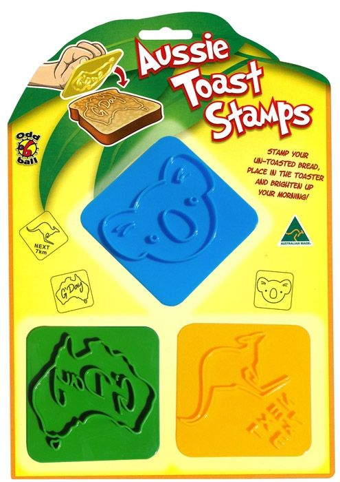 Toaster stamps are a fun and quirky gift. These stamps feature Australian animals.