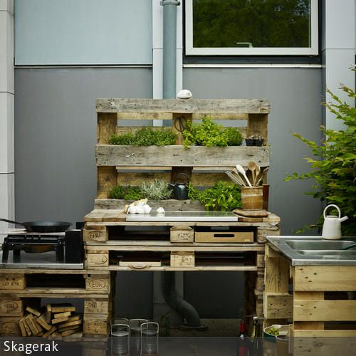 diy outdoork che aus paletten bauen kochen selber machen und upcycling. Black Bedroom Furniture Sets. Home Design Ideas