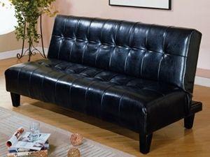80173 bk klick klack futon sofa bed in black pu finish sofa bed pinterest futon sofa bed. Black Bedroom Furniture Sets. Home Design Ideas