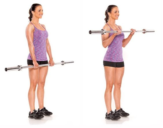 how to Barbell curl