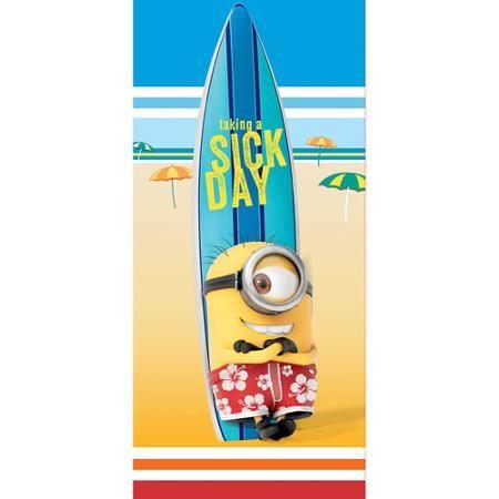 Minions 'Slow Tide' Beach Towel