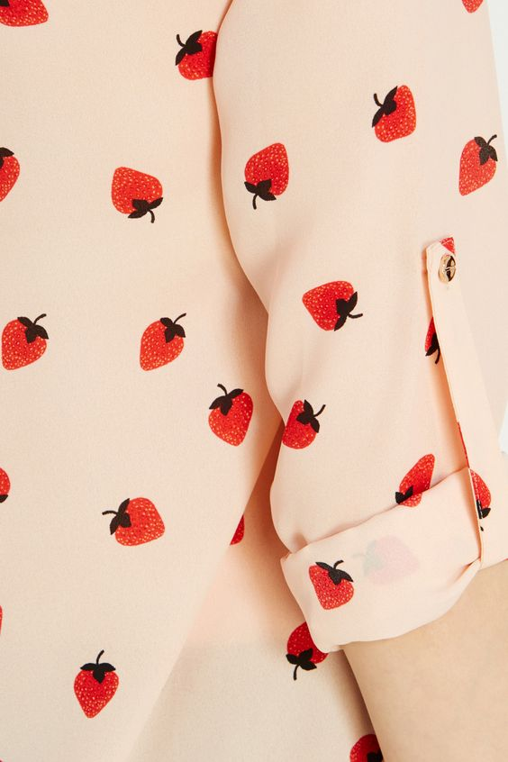 Strawberry Piped Yoke Shirt