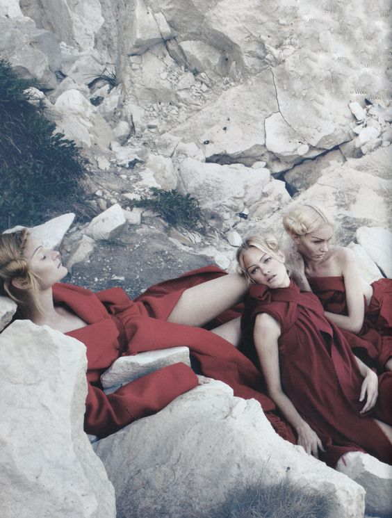 Helena Schroder, Hannah Holman and Anastasija Kondratjeva By Emma Summerton, Vogue UK December 2009