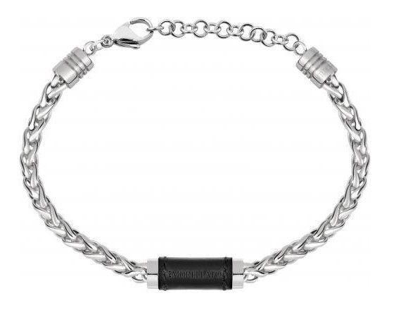 Ebay Sponsored Bracelet Men Morellato Moody Stainless Steel And Leather Samy03 Black Bracelets Bracelets For Men Stainless Steel Bracelet