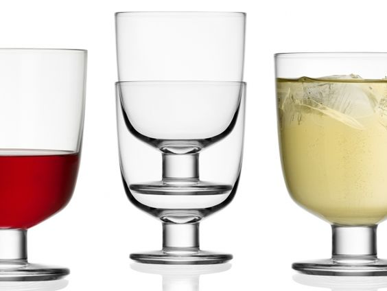 Stacked Lempi glasses by Iittala