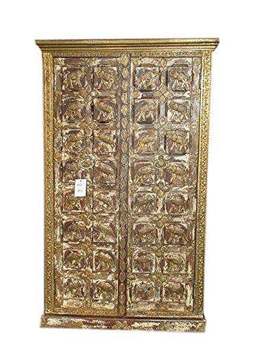 Antique Indian Cabinet Elephant Armoire Furniture Indian Almira Mogul Interior http://www.amazon.com/dp/B015OES8VY/ref=cm_sw_r_pi_dp_F5ytwb09T0HW4