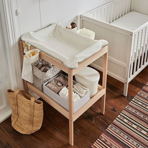 IKEA SNIGLAR Baby Changing table Beech//white 72x53 cm Home or Nursery Table