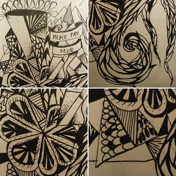 Keeping busy on the flight home #zentangle #linework  #dotwork #dotting #doodle