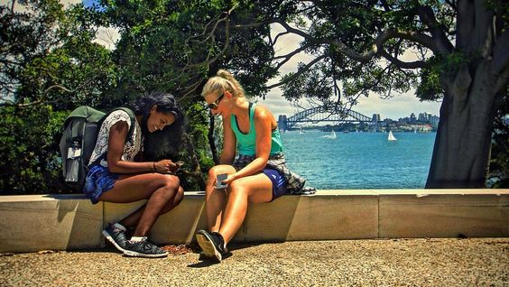 I found these two at Bradley's Head today googling #sydneyharbourbridge to help them find it.   No that's not true. They had a laugh about being on their phones in the middle of the most incredible #nationalpark in one of the most #beautiful cities on earth. Wasted opportunity? I don't think so. They were using images as a way of telling stories to a best friend (something us photographers live for) and the way I see it connecting and engaging with a friend like that is as valuable as a…