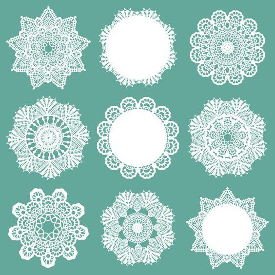 Crochet Patterns Vector : Free vector Doily Patterns (12/3) at www.shutterstock.com ...