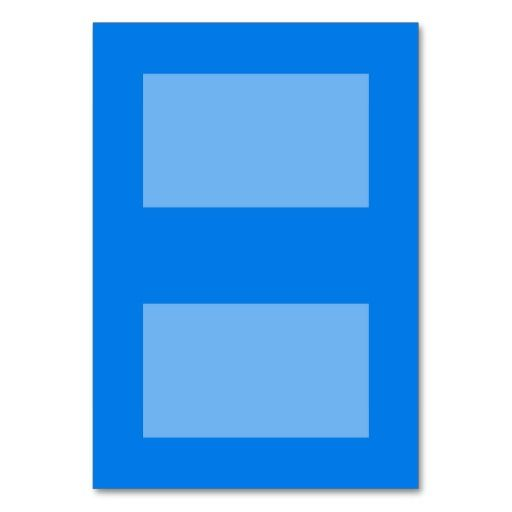 Customizable Tented Place Cards (Pool Blue) Table Cards