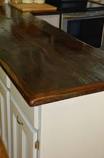 Reclaimed barn wood countertops - Stain and seal with Waterlox Sealer