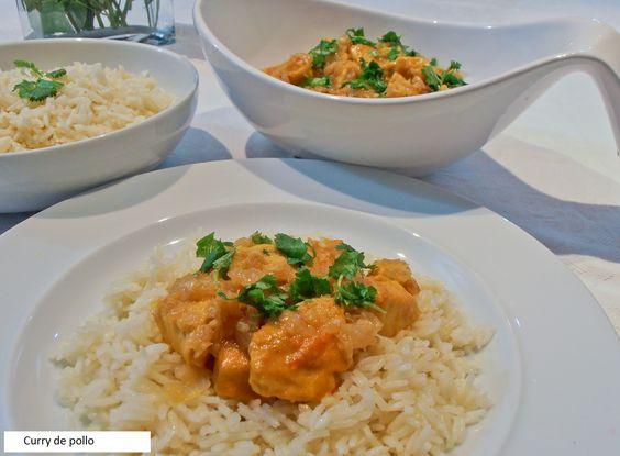 Curry de pollo en Thermomix con arroz. Un delicioso plato de pollo hecho al…