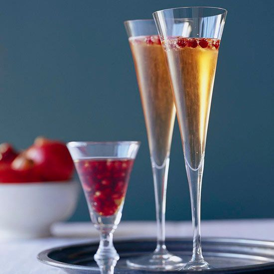 Our Pomegranate Sparklers are delicious and festive! More fun holiday ...