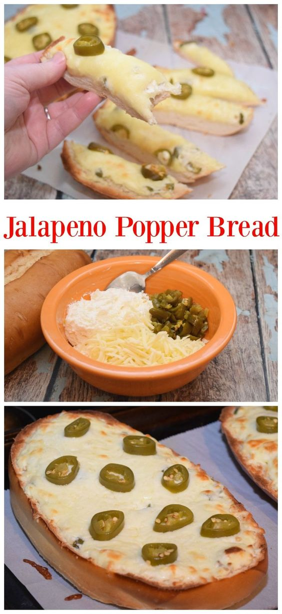 Need a recipe for the Big Game or your next football party? Your guests will devour this easy Jalapeno Popper Bread perfect for the Big Game! #VivaLaMorena #ad