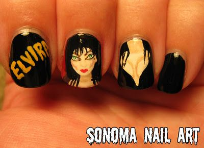Google Image Result for http://www.fearnet.com/eol_images/Entire_Site/201201/FashionElvira01.jpg: Nails Art, Awesome Nails, Nails Nailart, Nails Halloween, Elvira Nail, Amazing Nails, Halloween Nails