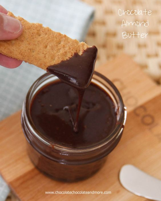 Homemade Chocolate Almond Butter-better than Nutella and easy to make!