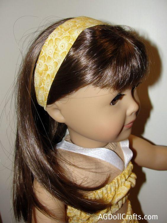 15 Minute Doll Headband Tutorial