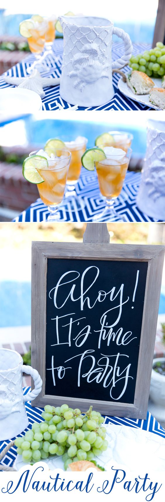 Throw a Nautical inspired party! Tips, ideas, and inspiration from Pizzazzerie.com